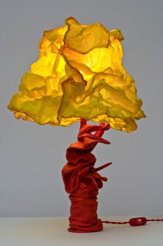 9 Bernini giallorossa, 2011, cotone-pelle e ferro, h. cm 50, d. cm 40